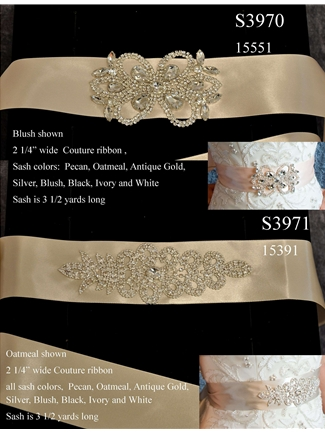 JL Johnson Bridals Sash Style S3970 | House of Brides