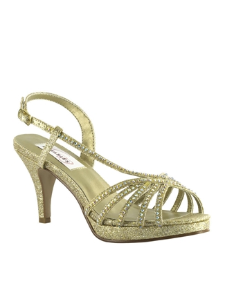 Dyeables Shoes Style Alyssa Gold Glitter | House of Brides