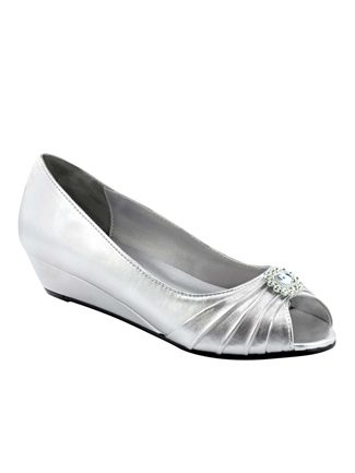 Dyeables Shoes Style Anette Silver Metallic | House of Brides