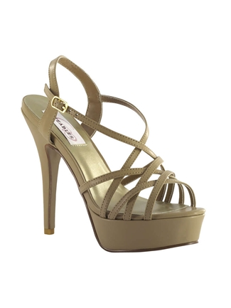 Dyeables Shoes Style Cali Taupe PU | House of Brides