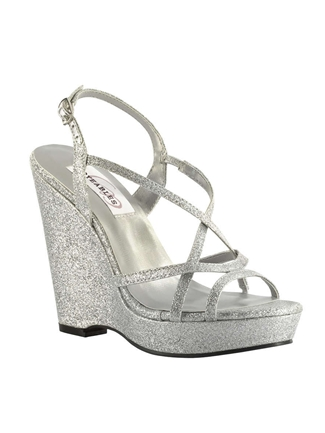 Dyeables Shoes Style Dee Silver Glitter | House of Brides