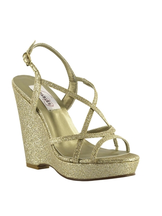 Dyeables Shoes Style Dee Gold Glitter | House of Brides