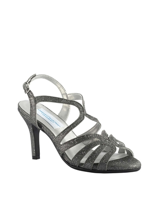 Dyeables Shoes Style Paisley Pewter Sparkle | House of Brides