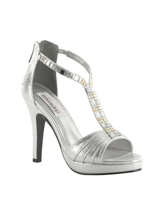Dyeables Shoes Style Riley Silver Shimmer | House of Brides