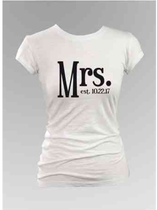 Ivy Lane Designs Mrs. Fitted Tee Style G33003/2 | House of Brides