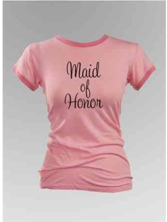 Maid of Honor Ringer Tee