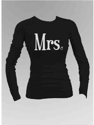 Mrs. Diamond Ring Long Sleeve Shirt