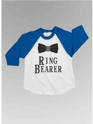 Ring Bearer Bow Baseball Tee