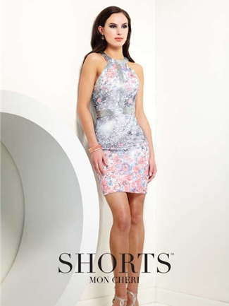 Shorts by Mon Cheri Short Formal Dress Style TS21556B | House of Brides